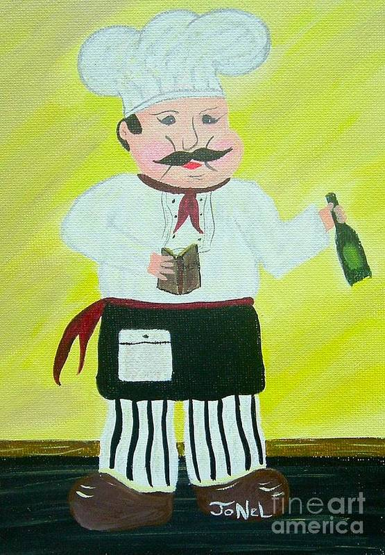 Chef Poster featuring the painting Italian Chef 3 by JoNeL Art