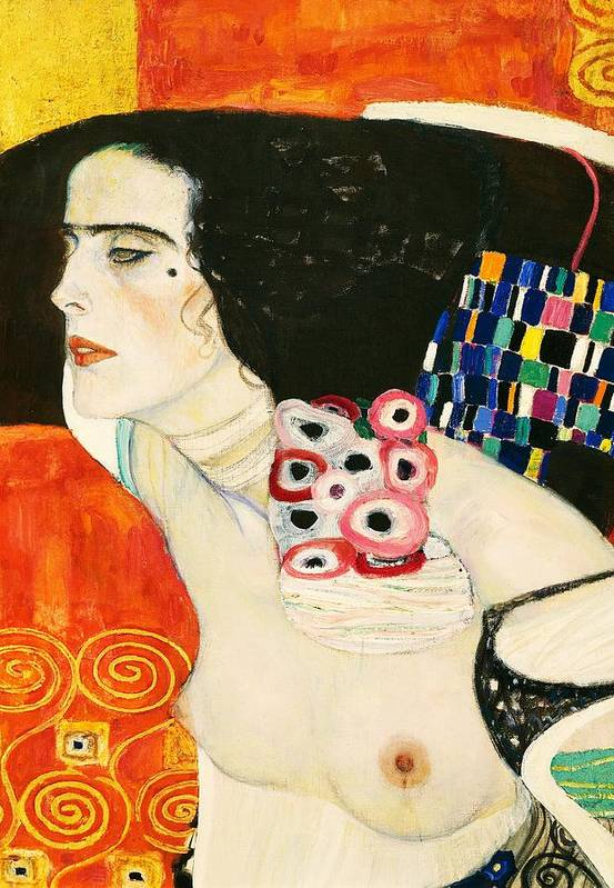Art;painting Poster featuring the painting Judith II by Gustav Klimt