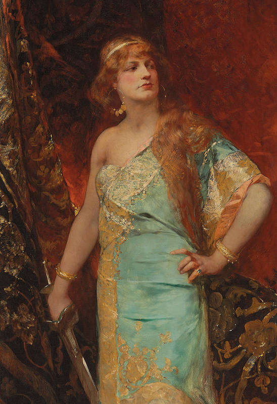 Judith Poster featuring the painting Judith by Jean Joseph Benjamin Constant