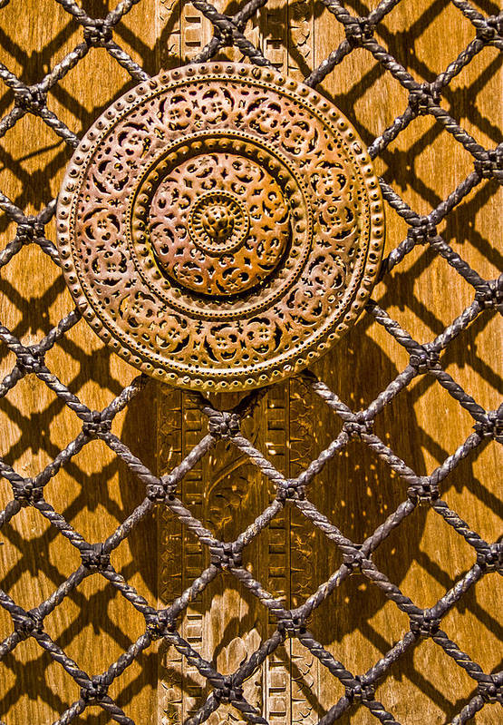 Door Poster featuring the photograph Ornate Door Knob by Carolyn Marshall