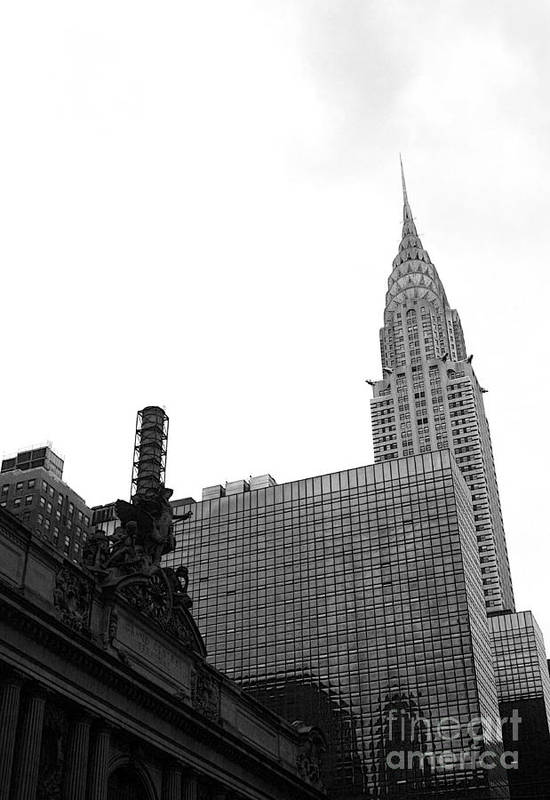 Grand Central Station Poster featuring the photograph Grand Central-grand Hyatt-chrysler by David Bearden