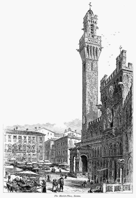 19th Century Poster featuring the photograph Italy: Siena, 19th Century by Granger