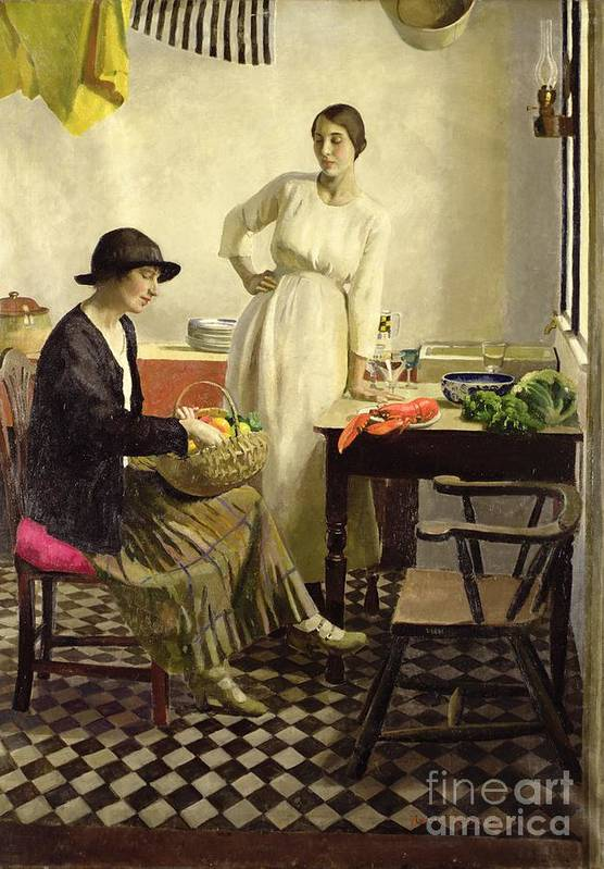 My Kitchen Poster featuring the painting My Kitchen by Harold Harvey