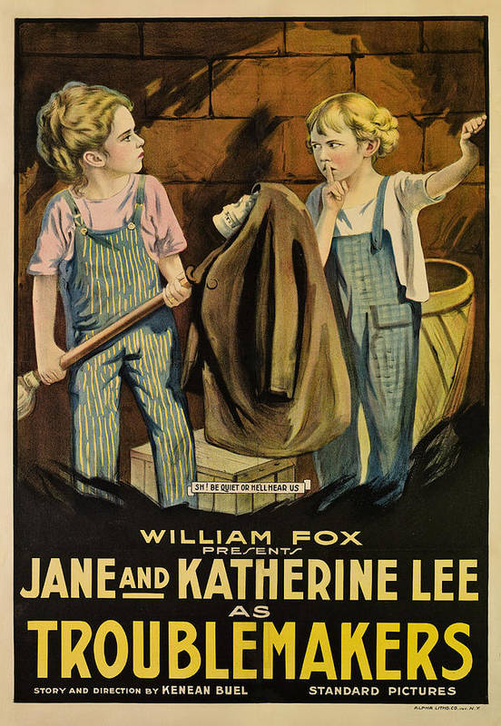 1910s Movies Poster featuring the photograph Troublemakers, Jane Lee, Katherine Lee by Everett