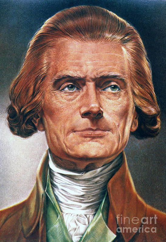18th Century Poster featuring the photograph Thomas Jefferson (1743-1826) by Granger