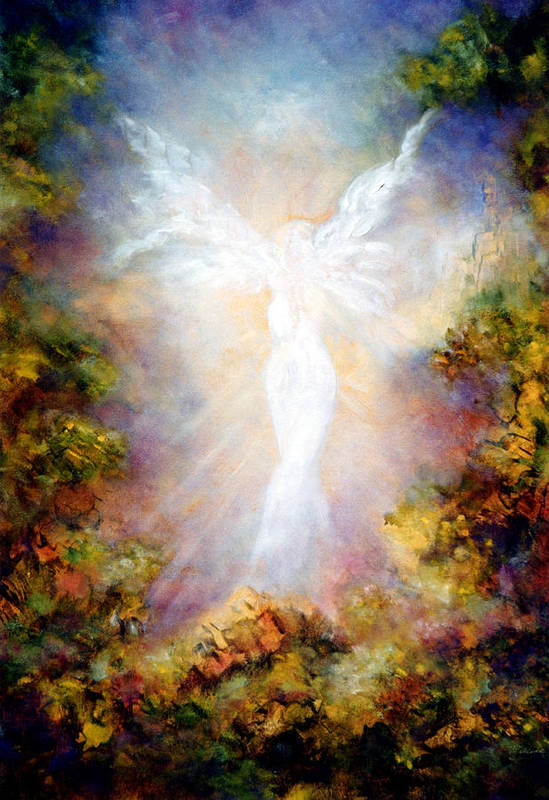 Angel Poster featuring the painting Apparition II by Marina Petro