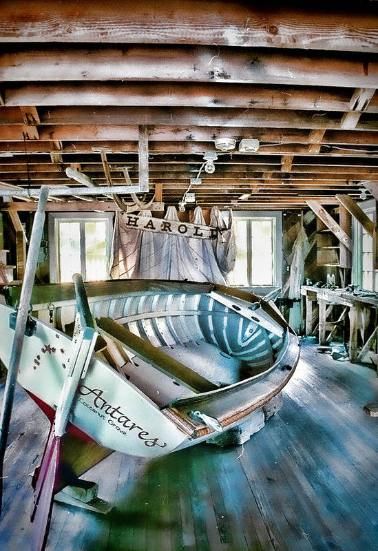 Boathouse Poster featuring the photograph Boathouse by Heather Applegate