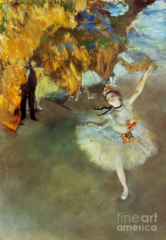19th Century Poster featuring the photograph Degas: Star, 1876-77 by Granger