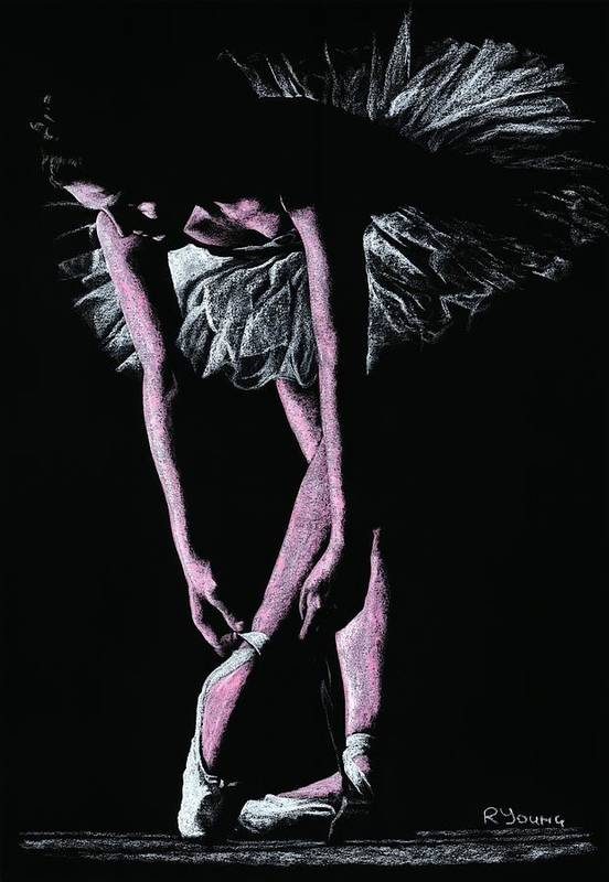 Dancer Poster featuring the pastel Final Adjustments by Richard Young
