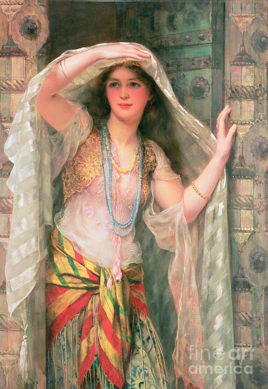 Safie Poster featuring the painting Safie by William Clark Wontner