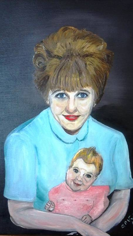 Portrait Adoption Mother Baby Family Love Better Choice Poster featuring the painting Choose Life by Alfred P Verhoeven