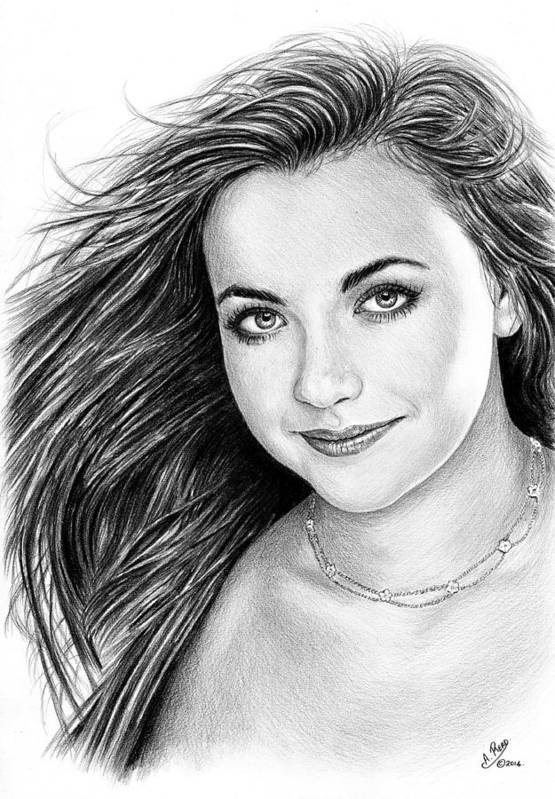 Charlotte Church Poster featuring the drawing Charlotte Church by Andrew Read
