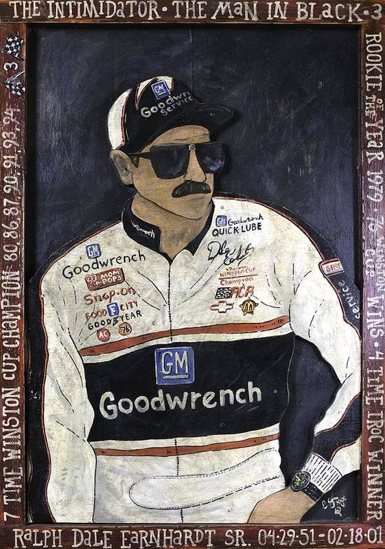 Dale Poster featuring the painting Dale Earnhardt Sr. - The Intimidator by Eric Cunningham