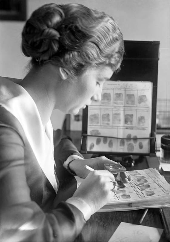Marie S. Dahm Poster featuring the photograph Fingerprint Analysis, 1918 by Science Photo Library