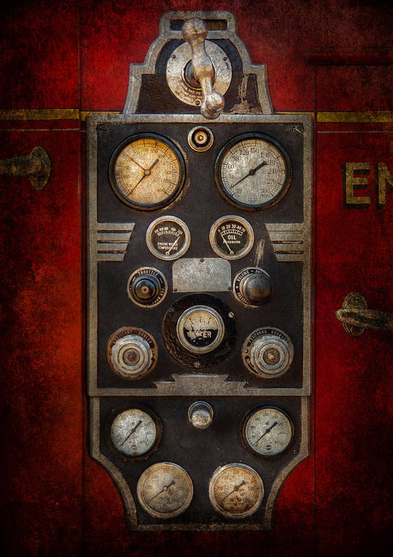 Hdr Poster featuring the photograph Fireman - Keep An Eye On The Pressure by Mike Savad
