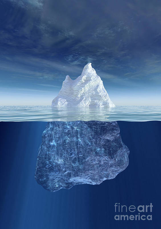 Iceberg Poster featuring the photograph Iceberg by Boon Mee