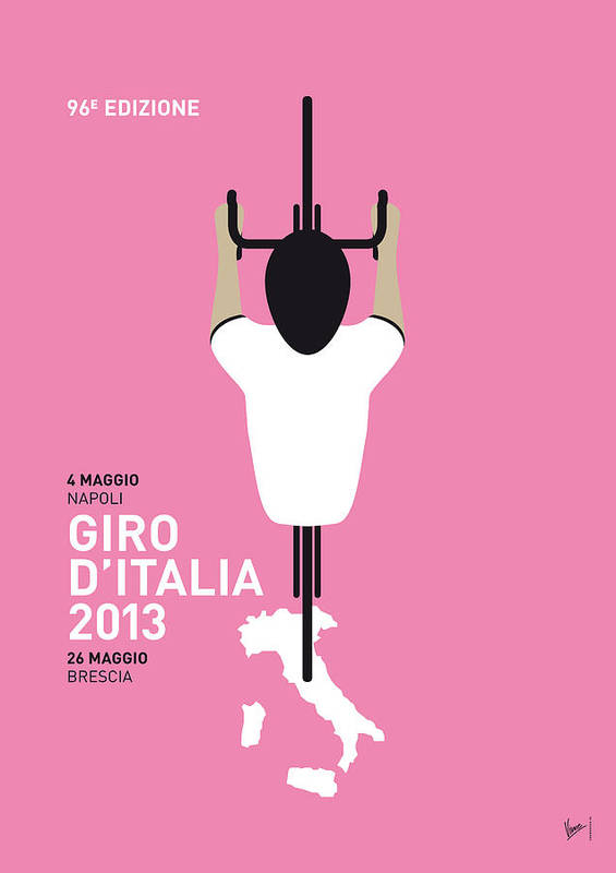 2013 Poster featuring the digital art My Giro D'italia Minimal Poster by Chungkong Art