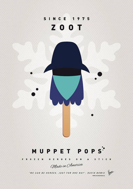 Muppets Poster featuring the digital art My Muppet Ice Pop - Zoot by Chungkong Art