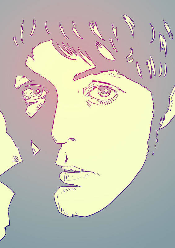 Paul Poster featuring the drawing Paul Mccartney by Giuseppe Cristiano