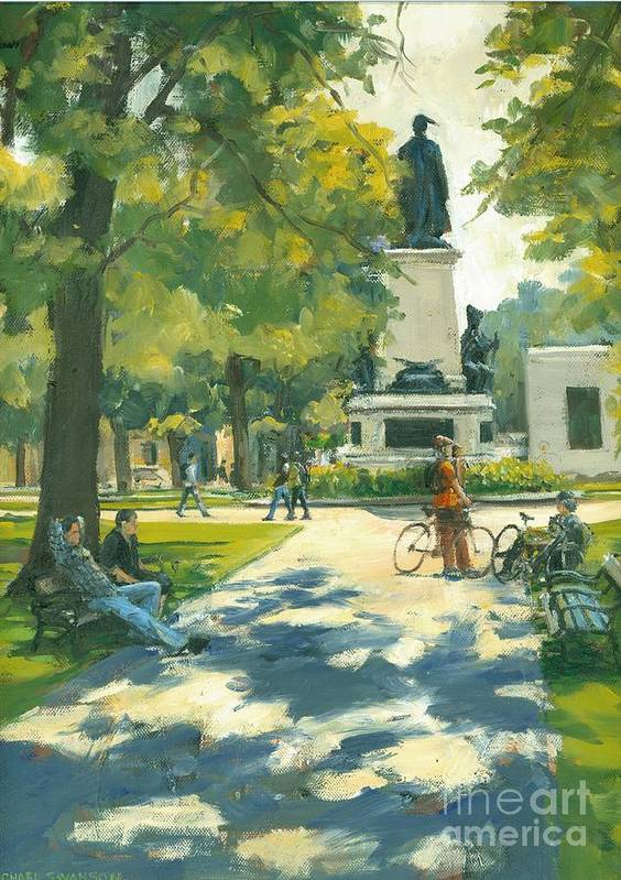Victoria Park Poster featuring the painting Relaxing by Michael Swanson