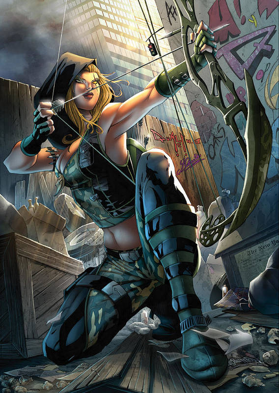 Grimm Fairy Tales Poster featuring the drawing Robyn Hood 05a by Zenescope Entertainment