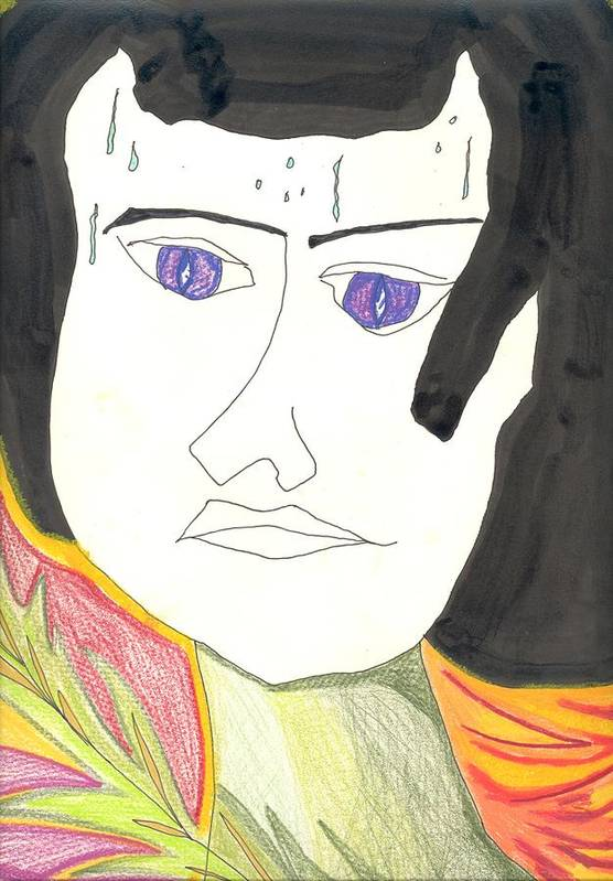Girl Labors Poster featuring the drawing Sweat Of The Brow by Donna Crist