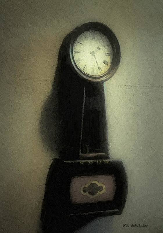 Antique Poster featuring the painting The Forgiveness Of Time by RC DeWinter