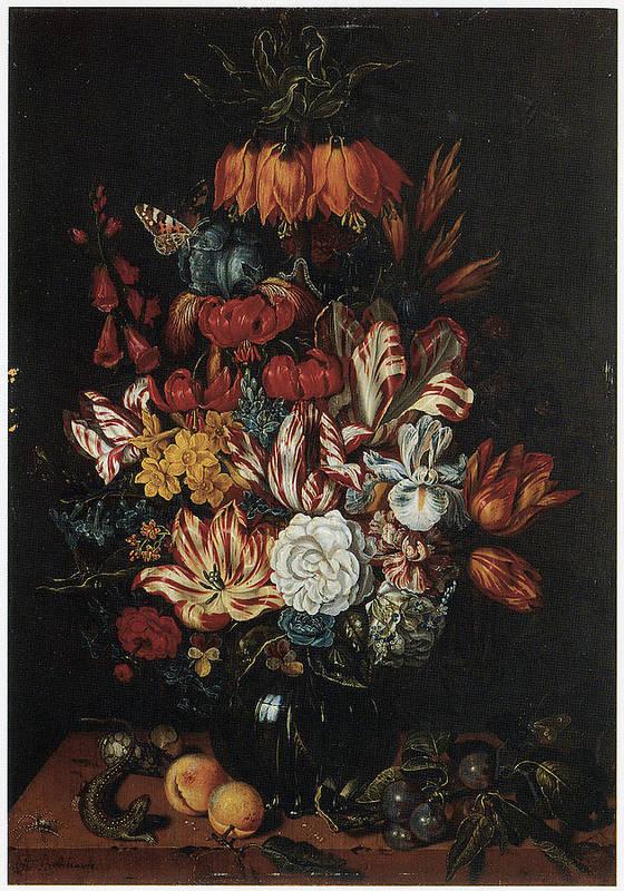 Abraham Bosschaert Poster featuring the painting Vase Of Flowers by Abraham Bosschaert