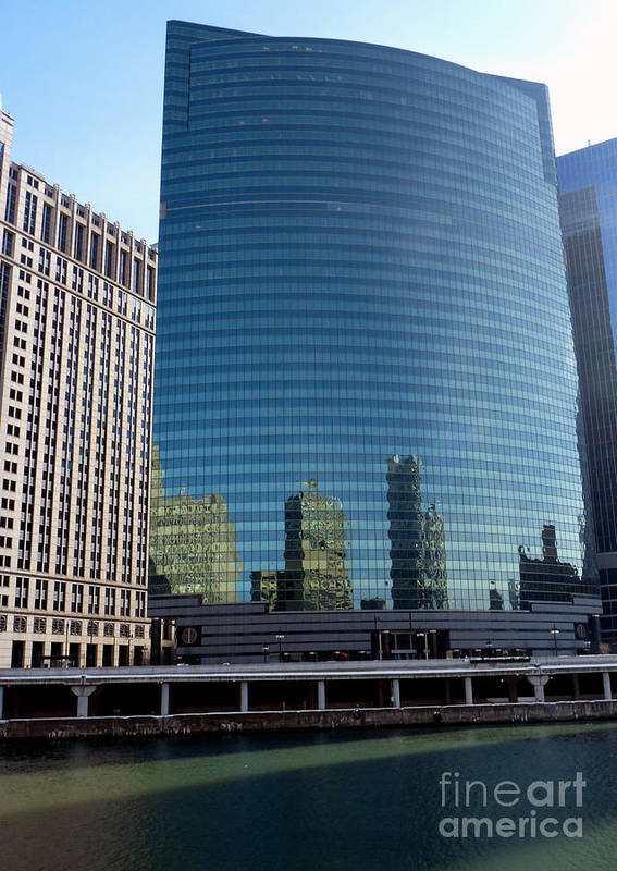 333 Wacker Drive Poster featuring the photograph World's Most Beautiful Building by David Bearden