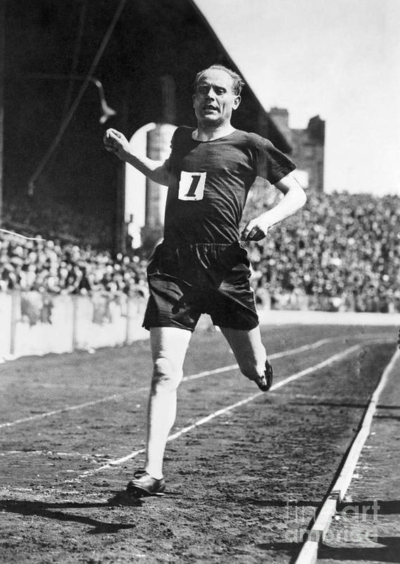 1931 Poster featuring the photograph Paavo Nurmi (1897-1973) by Granger
