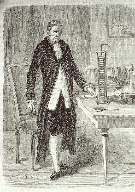 Science Poster featuring the photograph Alessandro Volta, Italian Physicist by Science Source