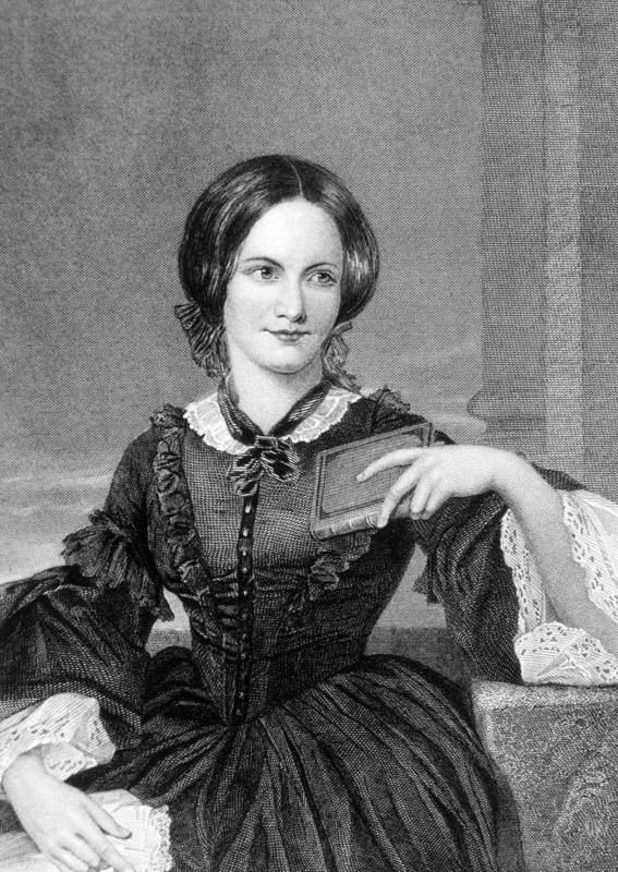 1800s Fashion Poster featuring the photograph Charlotte Bronte 1816-1855, British by Everett