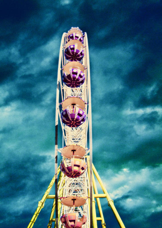 Activity Poster featuring the photograph infrared Ferris wheel by Stelios Kleanthous