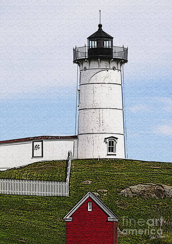 Cape Poster featuring the photograph Nubble Lighthouse- Canvas by Luke Moore