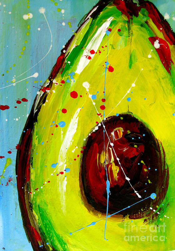 Painting Poster featuring the painting Crazy Avocado by Patricia Awapara