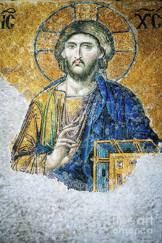 Christ Poster featuring the photograph Christ Pantocrator by Dean Harte