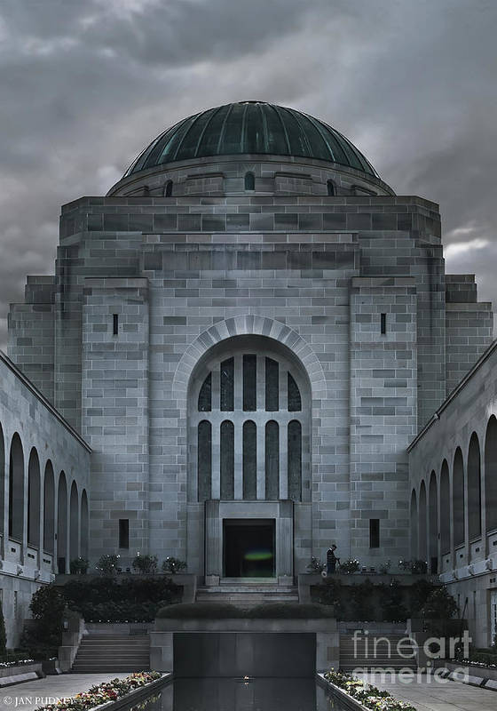 Architecture Poster featuring the photograph Hall Of Memory by Jan Pudney
