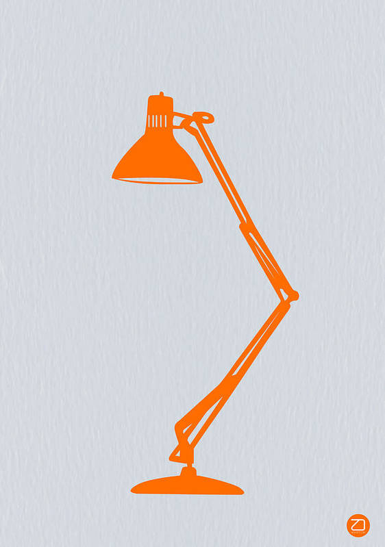 Lamp Poster featuring the photograph Orange Lamp by Naxart Studio