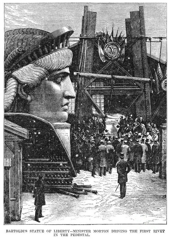 1881 Poster featuring the photograph Statue Of Liberty, 1881 by Granger