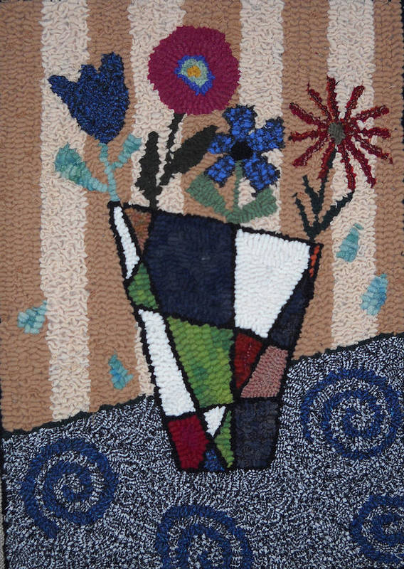 Still Life Poster featuring the tapestry - textile Still Life Line Play by Maureen McIlwain