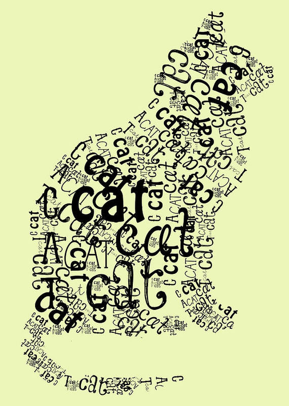 C Is For Cat Poster featuring the digital art C Is For Cat by Heather Applegate