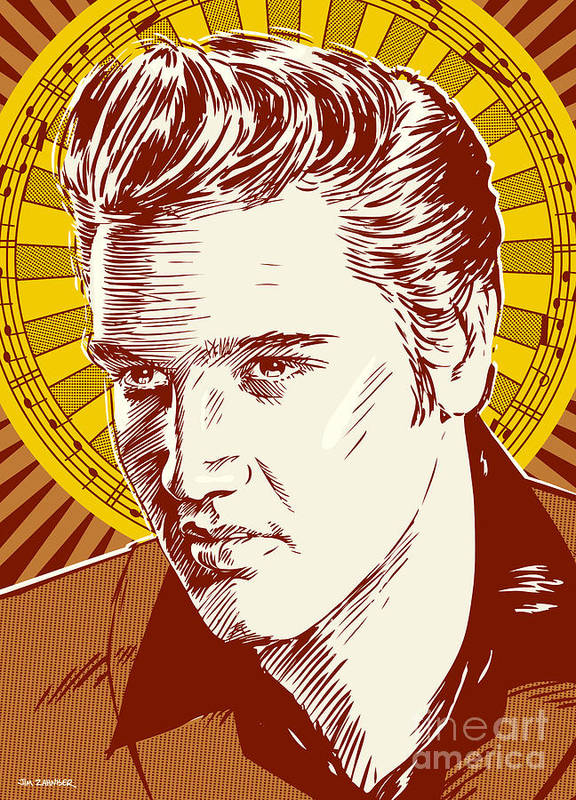 Elvis Presley Pop Art Poster By Jim Zahniser