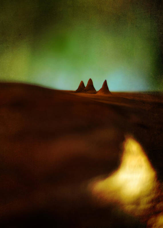 Miniature Landscape Poster featuring the photograph Fairies Giza by Rebecca Sherman