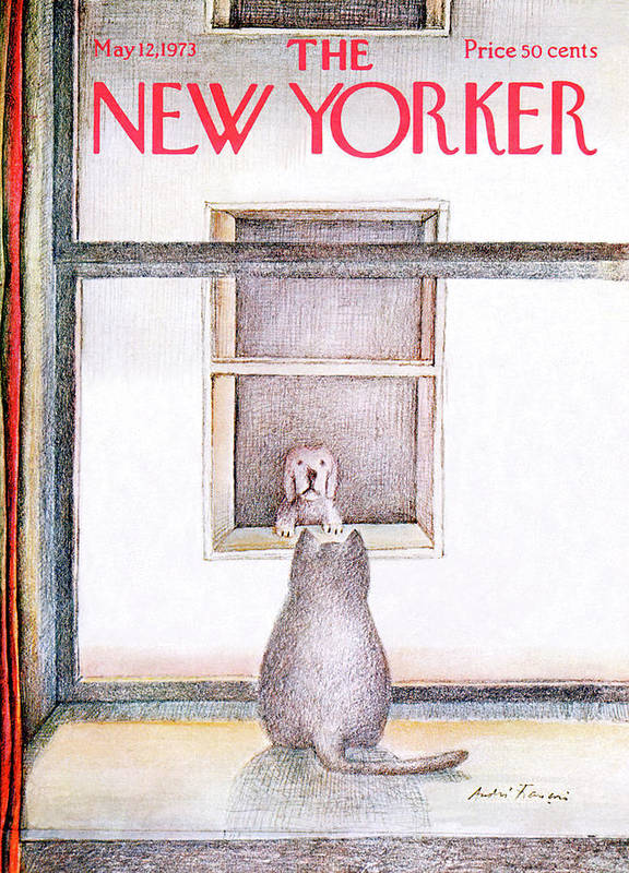 Window Poster featuring the painting New Yorker May 12th, 1973 by Andre Francois