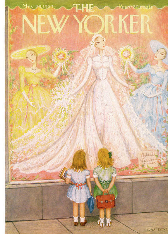 Marriage Poster featuring the painting New Yorker May 29th, 1954 by Edna Eicke