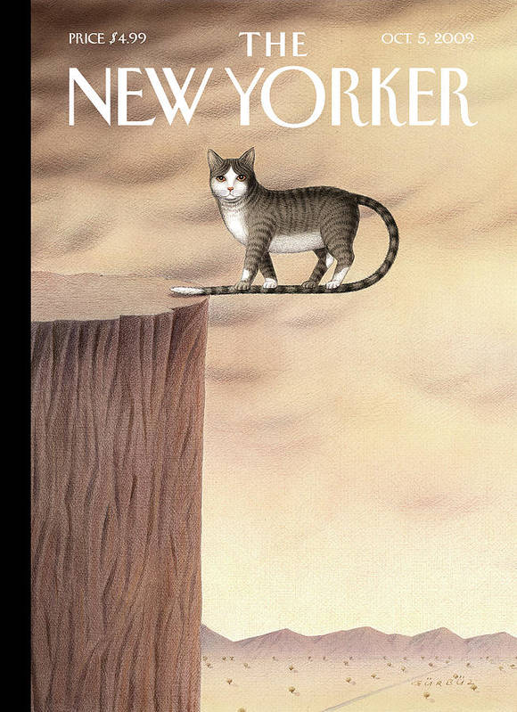 Animals Poster featuring the painting New Yorker October 5th, 2009 by Gurbuz Dogan Eksioglu