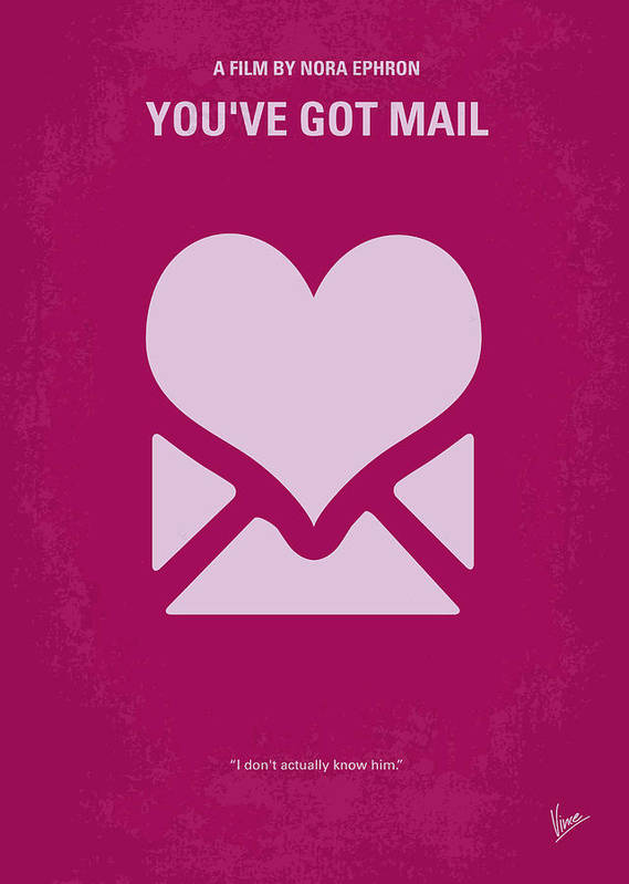 You Poster featuring the digital art No107 My Youve Got Mail Movie Poster by Chungkong Art