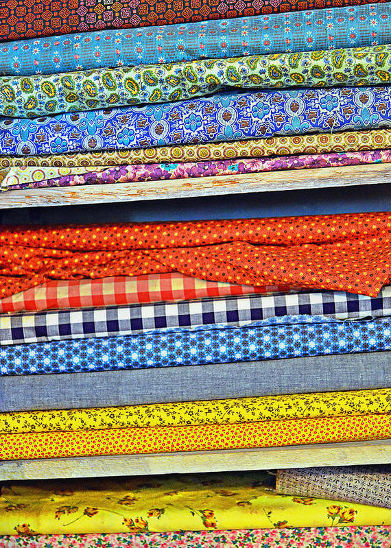Fabric Poster featuring the photograph Old Country Store Fabrics by Christine Till