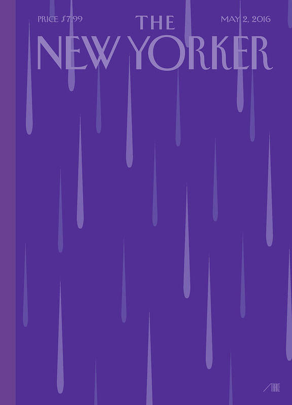 Prince Poster featuring the painting Purple Rain by Bob Staake