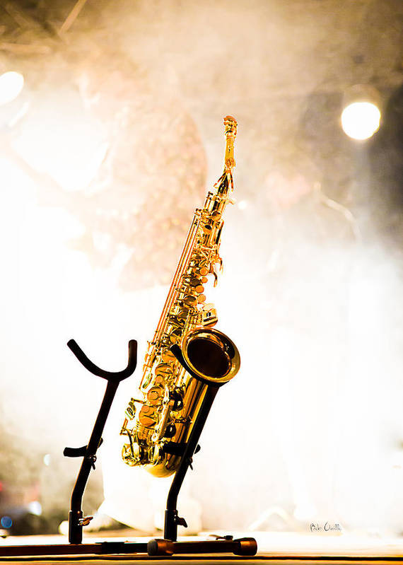 Sax Poster featuring the photograph Saxophone by Bob Orsillo